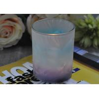 Best Unique Design Glass Candle Holders Feather Painted Candle Glass Jars wholesale