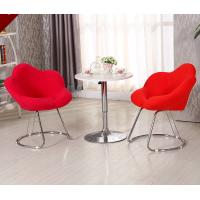 China Commercial Modern Metal Chairs , Antique Upholstered Dining Chairs With Metal Legs on sale