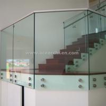 Shenzhen  Ace Frameless Corridor Stainless Steel Standoff Glass Railing