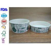 Buy cheap Disposable Food Grade Paper Salad Bowls For BBQ With FDA Certification from wholesalers