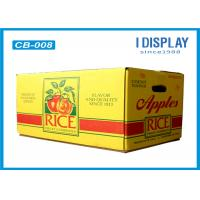 Cheap Corrugated Large Fruit Packaging Box / Cardboard Gift Boxes  With Customized Logo for sale