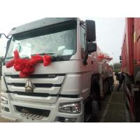 Sinotruk 6 x 4 38m 39m  Howo Concrete Pump Truck 336hp With 10 Wheel White Color