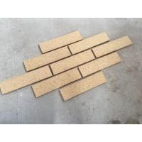 Best M36413-5 Building Wall Cladding Material Thin Smooth Face Brick With Yellow Color wholesale