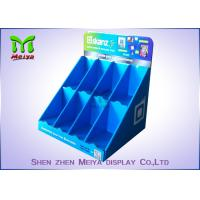 Best Blue Carton Cardboard Display Cases For Christmas Card , Hand Cream , Shampoo wholesale