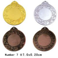 Best NBA Game Blank Sport Medals With Ribbon , Gold Plated Colorful Medals wholesale