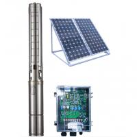 Best 4 Inch DC Solar Deep Well Submersible Pump , Solar Powered Water Pump For Irrigation wholesale