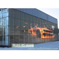 Best P10 1R1G1B Transparent Indoor Glass Glass Wall LED Screen For Building Advertising wholesale