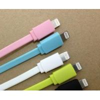 Best IPhone 5 / 5s Flat Micro USB Cable , Blue TPE Charging Wide-body Wire wholesale