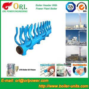 Best SA213T22 Furnace Water Header / Steam Boiler Header TUV Certification wholesale