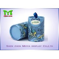 Cheap Elegant Design Color Printing Round Paper Tube Box / Cardboard Tube with Ribbon for sale
