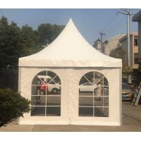 China Custom 10x10 Advertising Pagoda Tent With Side And Alluminium Frame For Trade on sale