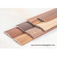 Cheap Wood Effect Laminate Floor Metal Edging , Carpet To Wooden Floor Trim for sale