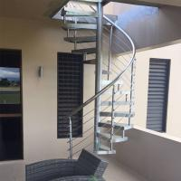 Cheap Interior Modern Design Stainless Steel Glass Spiral Staircase for Attic for sale