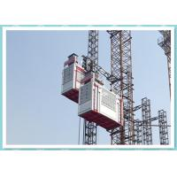 Heavy Double Cage Rack And Pinion Lift , Industrial Elevators And Lifts