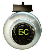 Best 100mm EC Circular Duct Fan , High Speed Inline Duct Exhaust Fan wholesale