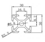 Best 6063 t5 3030 Aluminum Extrusion Profile use for 3D Printer DIY wholesale