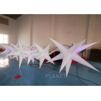 Best Oxford Cloth LED Inflatable Star With Color Light For Event Decoration wholesale