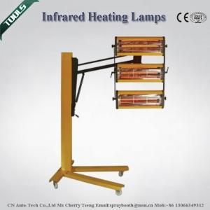 3000W 220V 350V 400V Shortwave Infrared Curing Lamp for Auto Baking / Printing Industry