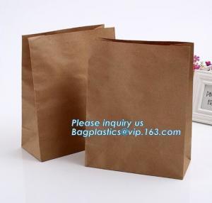 Best nature brown Kraft bread packaging paper bags,Brand paper bag machine making paper bag paper bread bag, BAGPLASTICS, LTD wholesale