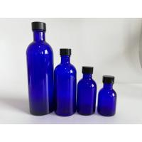 Best Blue Glass Makeup Bottles , Foundation Empty Cosmetic Packaging Bottles wholesale