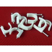 Best Wire Fastening  Round Nail Cable Clip PE and Steel Material White / Black wholesale