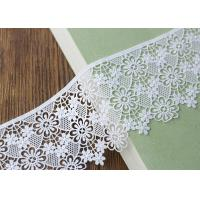 Best Embroidery French Venice Guipure Cotton Lace Trim Ribbon With Floral Lace Design wholesale