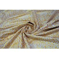 Cheap Metallic Ink Printing Plain Cotton Fabric With Beautiful Gold Color for sale