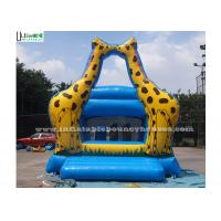Best Little Kids Indoor Mini Giraffe Inflatable Jumper For Party Game , Blue wholesale