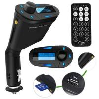 Best LCD kit Car MP3 Player Wireless FM Transmitter With USB SD MMC Slot remote Blue wholesale