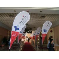 Best Outdoor Advertising Teardrop Flag Banner For Trade Show Heat Transfer Printing wholesale