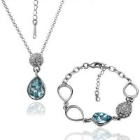 Buy cheap Exquisite 18k white gold plated wedding costume jewellery sets from wholesalers