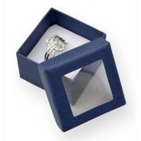 Best Luxury Small Cardboard Gift Boxes Gift Ring Packaging 50x50x32mm With Clear Window wholesale