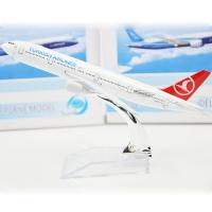 Best Turkish B777 1 / 400 Metal Fancy flying model airplanes Child Gift wholesale