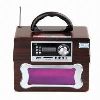 China Portable Loud Speaker with LED Display, FM Radio and Colorful Design on sale
