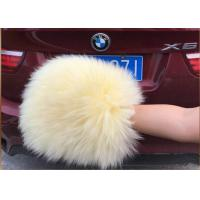 Best Sheepskin Car Wash Mitt Genuine Long Merino Wool Car washing glove wholesale