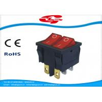 Best 6 Pin Double Electrical Rocker Switches With Light Indicator , Electrical On Off Switch 10a 250v wholesale