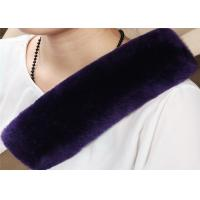 Best Durable Natural Fiber Sheepskin Seat Belt Cover Sheepskin OEM Comfortable Safety wholesale