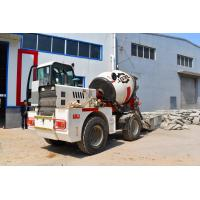 China Yuchai Engine Automatic Feeding Mobile Cement Mixer Trucks With 2 Cubic Meter Output on sale