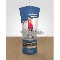 Best Double sided Stretch Angled Fabric Banner Stand Display With Case To Podium wholesale