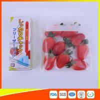 Best Clear Plastic Freezer Zip Lock Bags With Writing Panel For Vegetable / Meat Storage wholesale