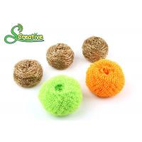 Best Wire Mesh Brass Scouring Pads Cleaning Ball For Kitchen Houseware Strong Cleaning wholesale