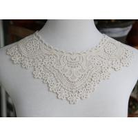 Best Delicate Chemical Lace Collar Applique With Cotton Embroidered Floral For Neck wholesale