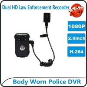Best 1080P Body Worn Police DVR Camera IP56 Waterproof Law Enforcement Audio Video Recorder wholesale