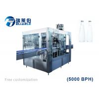 Best Auto Rotary Glass Bottle Capping Machine Wine / Carbonated Drink Filling Line wholesale