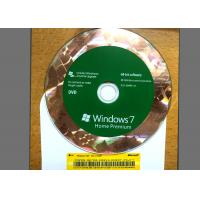 Cheap Original DVD Win 7 Basic Home , Windows 7 Retail Version For 1 PC Using for sale