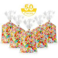 Best Germ Proof Colorful Cello Treat Bags Recyclable With Twist Ties wholesale