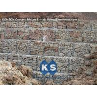 Best Hexagonal Wire Mesh Gabion Retaining Wall with Polyethylene PE Coated Gabion Wire wholesale