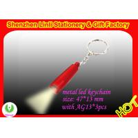 China promotion gift hi power LED flashlight Keychains OEM logo on the torch on sale