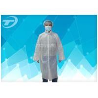 China Waterproof  Disposable Visitor Coats PE With Different Size , Medical Protective Clothing on sale