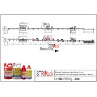 China Agro Chemical Bottle Filling Line / Stable Performance Pharmaceutical Liquid Filling MachinesLine on sale